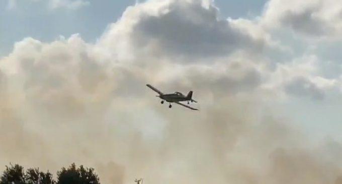 Controlat un incendi en la marjal del Puig en el qual ha resultat ferit un home