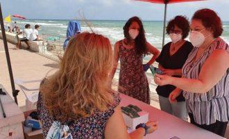 Sueca trasllada a les seues platges la campanya contra l'acció de tirar les burilles dels cigarrets al sòl