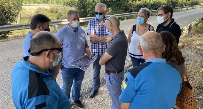 La CHX visita Carcaixent per avaluar la problemàtica dels barrancs de Gaianes i Barxeta