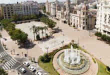 La nova plaça de l'Ajuntament de València en imatges