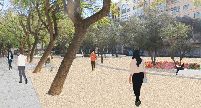 L'Ajuntament licita la remodelació del parc Manuel Granero de Russafa amb una inversió de 600.000 euros