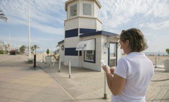 Gandia instal·la 17 noves antenes per subministrar wifi gratuït a primera línia de platja