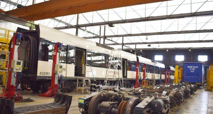 La Generalitat comprarà un equip de bogies per a agilitar el manteniment de les unitats 4.300 de Metrovalencia
