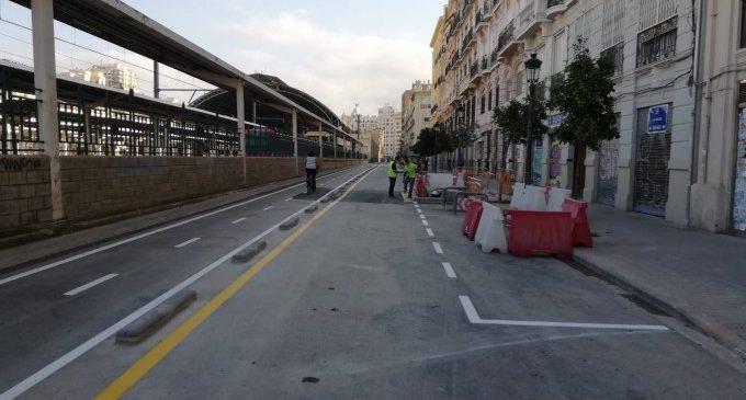 Finalitzen les obres de la futura Línia 10 que afectaven el carrer Alacant
