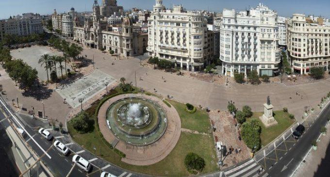La plaça de l'Ajuntament de València estarà tancada en cap d'any