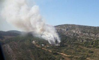 Controlat l'incendi declarat aquest dimecres a Siete Aguas