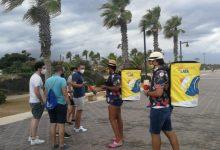 3 de cada 4 banyistes enquestats en la campanya 'Circula la teua llanda al groc' estan satisfets amb la gestió dels residus a les platges de València