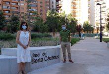 L'Ajuntament de València posa el nom de l'activista mediambiental Berta Càceres a un jardí de la ciutat