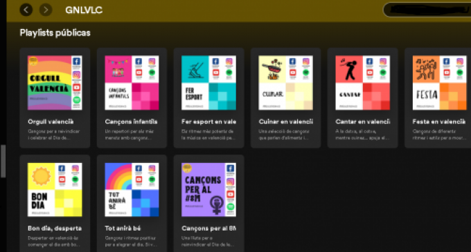València posa en marxa una nova iniciativa per difondre la música en valencià: per gèneres musicals a través de llistes de Spotify
