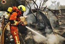 Els bombers del CPBV intervenen a un incendi de vivenda a Chiva