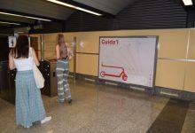 Metrovalencia llança una campanya per a promoure l'ús correcte dels patinets en les seues instal·lacions