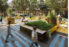 Així seran les noves superilles de València: figures geomètriques, el roig, l'ocre i el blau