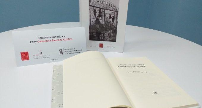 El Club de Lectura d'Almussafes reprén les seues trobades amb una sessió dedicada a Carmelina Sánchez-Cutillas
