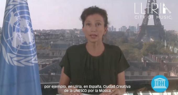 La directora general de la UNESCO enalteix als músics de Llíria com a exemple de resiliència i solidaritat