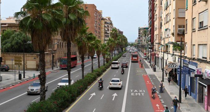 La nova imatge de Pérez Galdós: voreres més àmplies, nou carril bici i xicotetes places