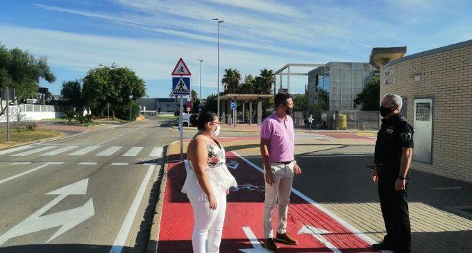 Almussafes apuesta por el transporte ecológico con un nuevo carril bici al IES Almussafes