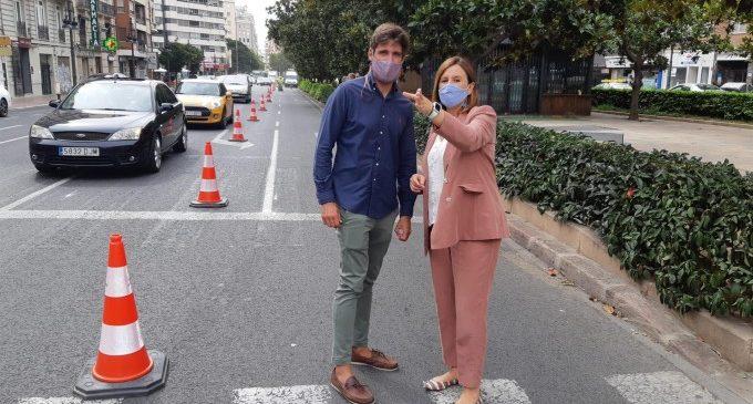 """El PP ve """"un despropósito"""" el inicio del carril bici en Gran Vía en lugar de en verano o en el confinamiento"""