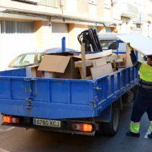 El nou sistema de recollida de trastos i mobles de Paiporta triplica la capacitat dels mitjans municipals