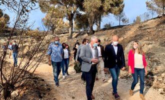 La Diputació ajudarà a Oliva en la recuperació de la Muntanyeta de Santa Anna