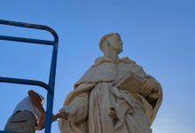 Acabada la rehabilitació de l'estàtua de Sant Lluís Bertran de València