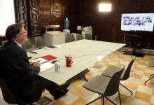 Ximo Puig analitza amb persones expertes l'evolució de la pandèmia de coronavirus en la Comunitat Valenciana