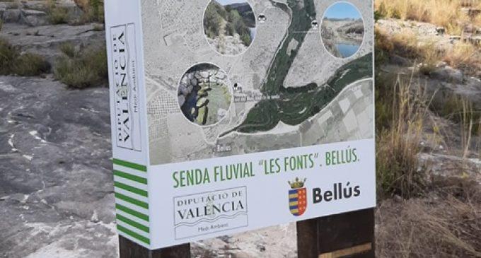 La Diputació recupera la senda que uneix la Font del Molí i l'Estret de les Aigües de Bellús