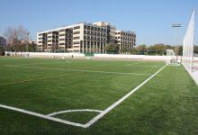 Es millora l'enllumenat del camp de futbol del Poliesportiu Municipal de Burjassot