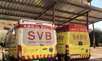 Dues dones resulten ferides en un accident amb tres vehicles a Catarroja