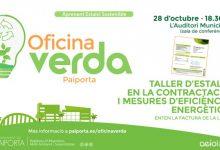 L'Oficina Verda de Paiporta s'obri amb un taller participatiu sobre estalvi en la contractació i eficiència energètica
