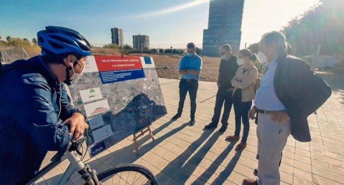 La nova via de ciclovianants entre l'Horta Sud i València continua avançant