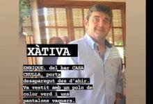 Se alerta de la desaparición de un hombre en Xàtiva