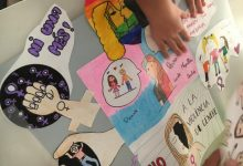 El Consell de la Infància i Adolescència d'Almussafes dissenya un collage contra la violència de gènere
