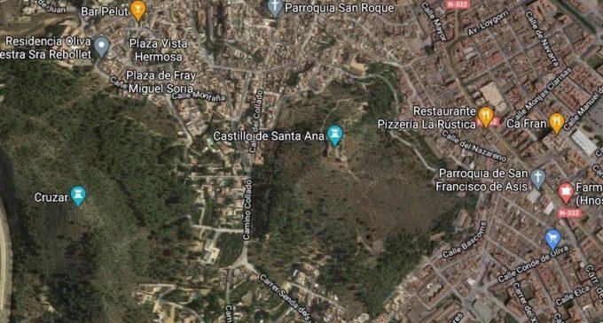 Declarat un incendi forestal a Oliva amb el risc d'afectar població