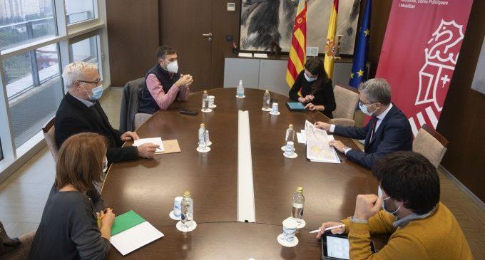 València recaba el suport de la conselleria de territori al pla de renaturalització del llit nou del Túria
