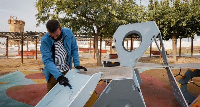 Paterna aplica nanotecnologia als parcs infantils per a eliminar virus i bacteris