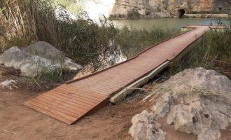 """El paraje natural """"Los Calderones"""" de Chulilla ya es un itinerario accesible"""