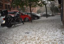 Tempesta amb granís i llamps a València