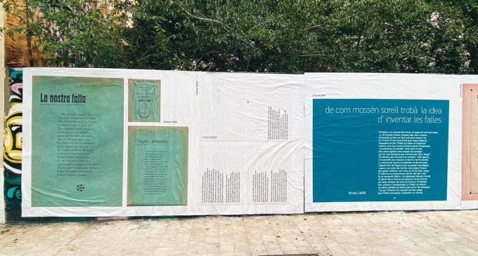 La Falla Corona commemora l'aniversari de la declaració de Patrimoni Unesco amb una intervenció urbana de literatura festiva