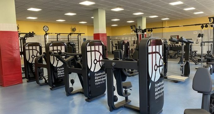Es renova la sala de musculació del poliesportiu Cabanyal-Canyamelar