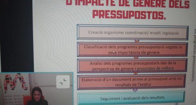 Quart de Poblet imparte un webinar sobre presupuestos municipales con perspectiva de género