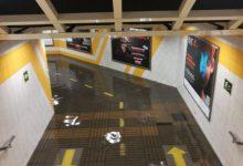 Tancada l'estació de metro d'Alameda per risc d'inundació