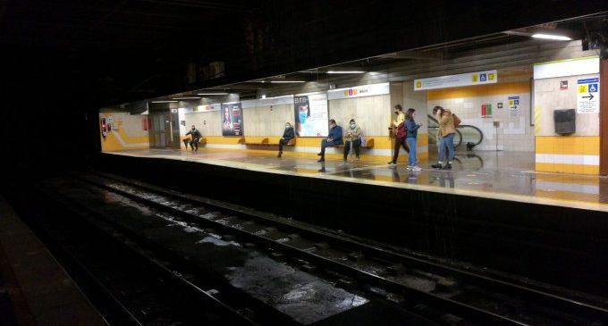 Metrovalencia interromp la circulació entre Facultats i Alboraia-Peris Aragó
