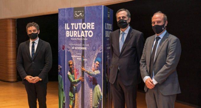 Les Arts oferirà en 'streaming' l'òpera 'Il tutoritze burlato' de Martin i Soler amb la col·laboració de Turisme
