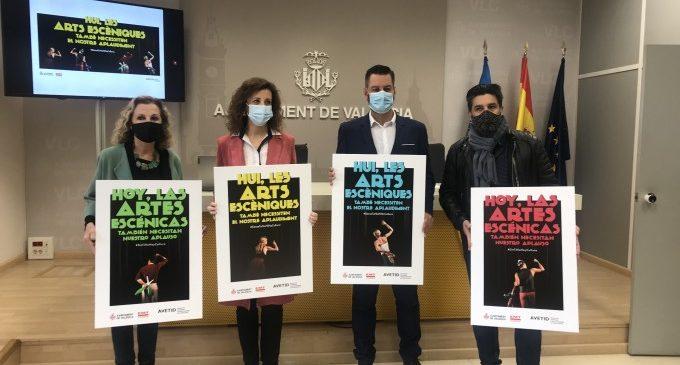 Les arts escèniques també necessiten aplaudiments. AVETID i Ajuntament de València llancen una campanya per a dinamitzar la cultura