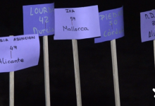 55 coets il·luminen el 25-N a Catarroja en record de les dones assassinades en 2019