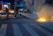 Bombers intervenen en la crema de nou contenidors a Requena, Torrent, Puçol i Moixent