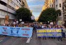 L'associació 'Policies per la llibertat' es manifesta a València contra la