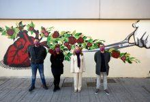 Gandia consciència contra la violència de gènere amb un nou mural