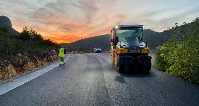 La Diputació completa la renovació de la CV-600 entre Simat de la Valldigna i Barxeta