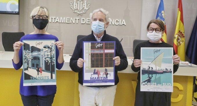 València impulsa que la ciutadania es felicite les festes amb postals que redescobreixen els barris